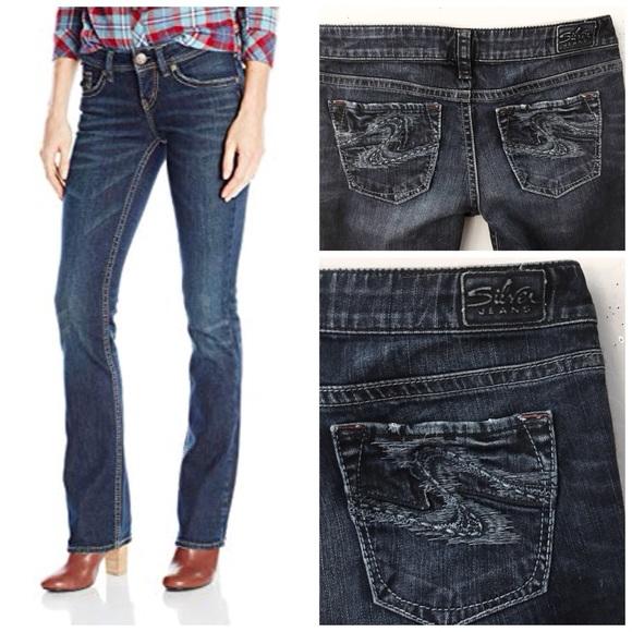 Silver Jeans Denim - SILVER AIKO FLARE DARK WASH DENIM BLUE JEANS SZ 29